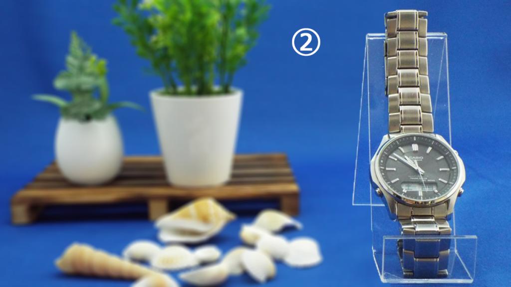 ② 更に、腕時計を大きくしてみました。